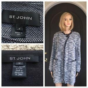 St. John cardigan long sweater/sleeveless top 6/M